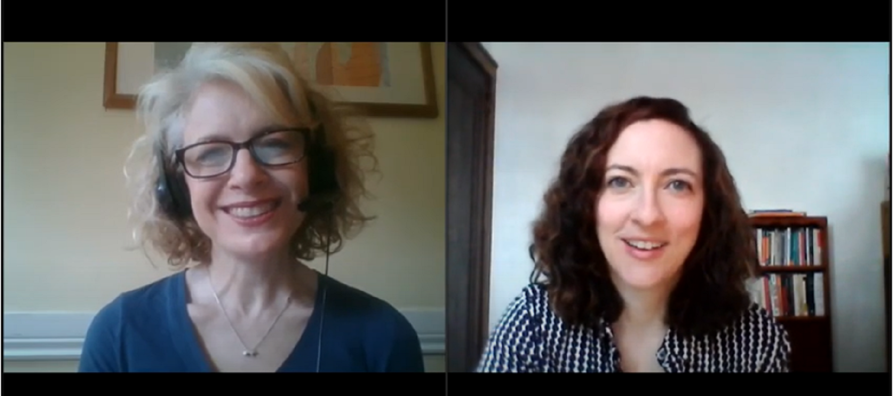 A screenshot of Lifetime Arts' Annie Montgomery and Julie Kline in a video introducing Creative Aging 101.