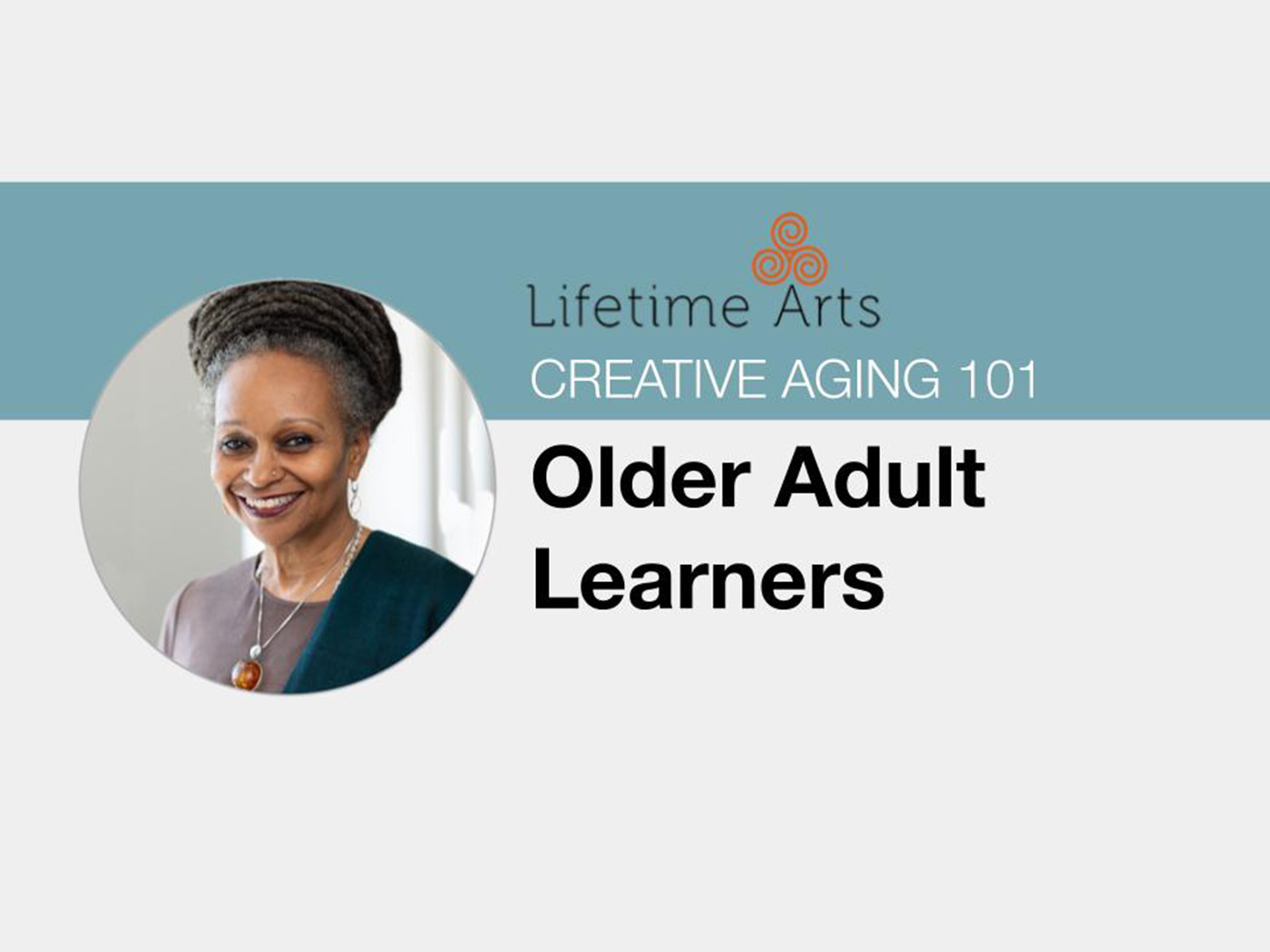 Image featuring headshot of Lifetime Arts Trainer, Abigail Jefferson and lesson title.
