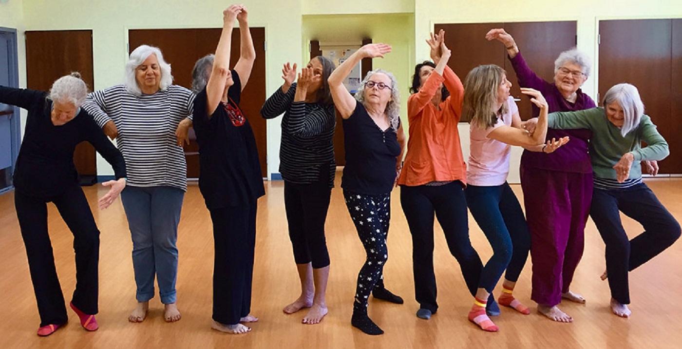 Image of participants dancing.