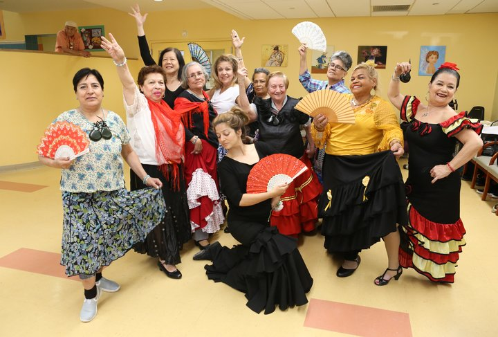 Flamenco at Diana H. Jones Innovative Senior Center taught by Glenda Sol Koeraus for SU-CASA. Credit: Jeremy Amar