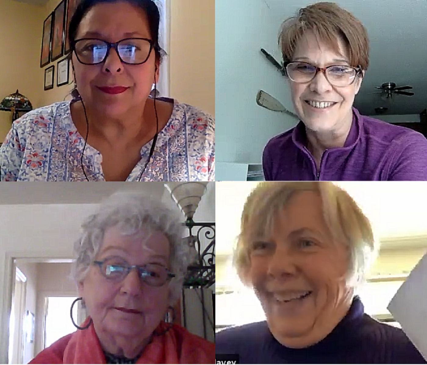 Screenshot of participants during a storytelling workshop.
