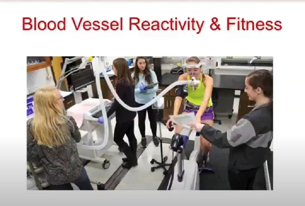 A screenshot of a presentation slide from Dr. Jill Barnes' presentation on healthy aging.