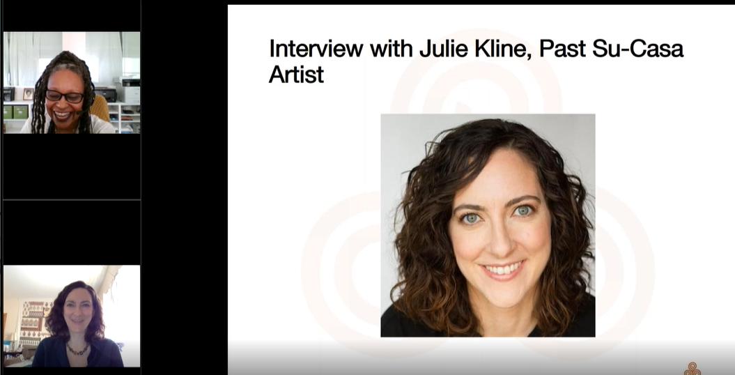 Abigail Jefferson and Julie Kline present in a webinar.